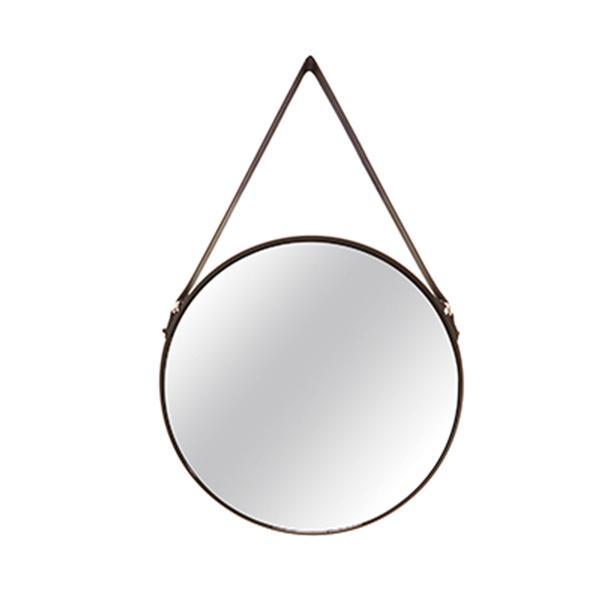 Espelho Metal/Couro