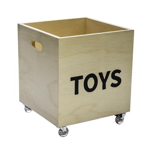Caixote de madeira para brinquedos