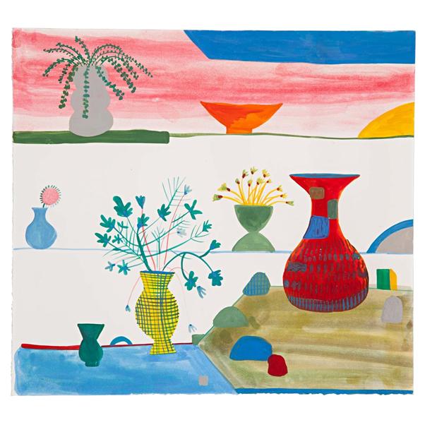 Obra Vasos, plantas e pedras