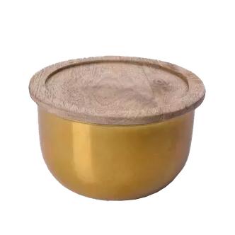 Pote metal dourado