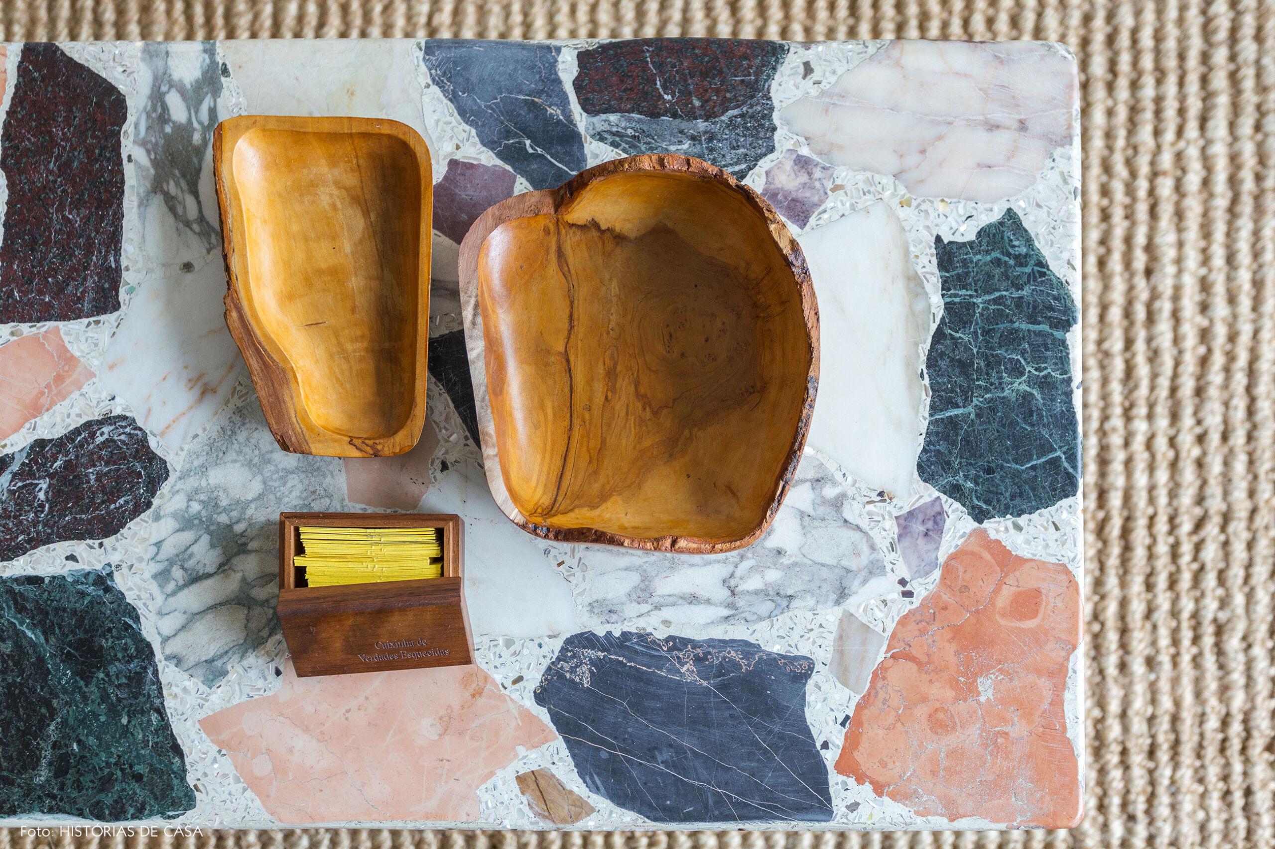 Mesa de centro com tampo de granilite, Vintage terrazzo coffee table