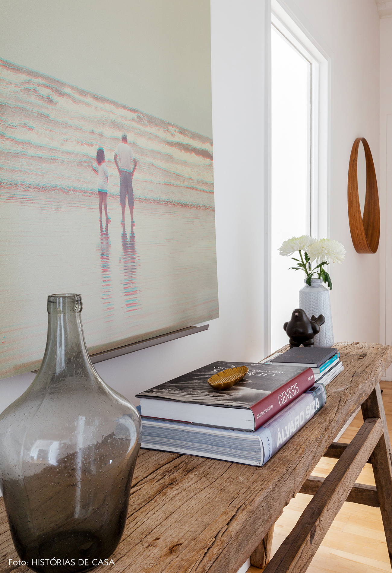 Rustic wood sideboard with beautiful styling