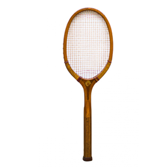 Raquete de tênis francesa