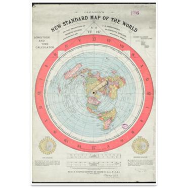 Cartaz – Mapa da terra plana