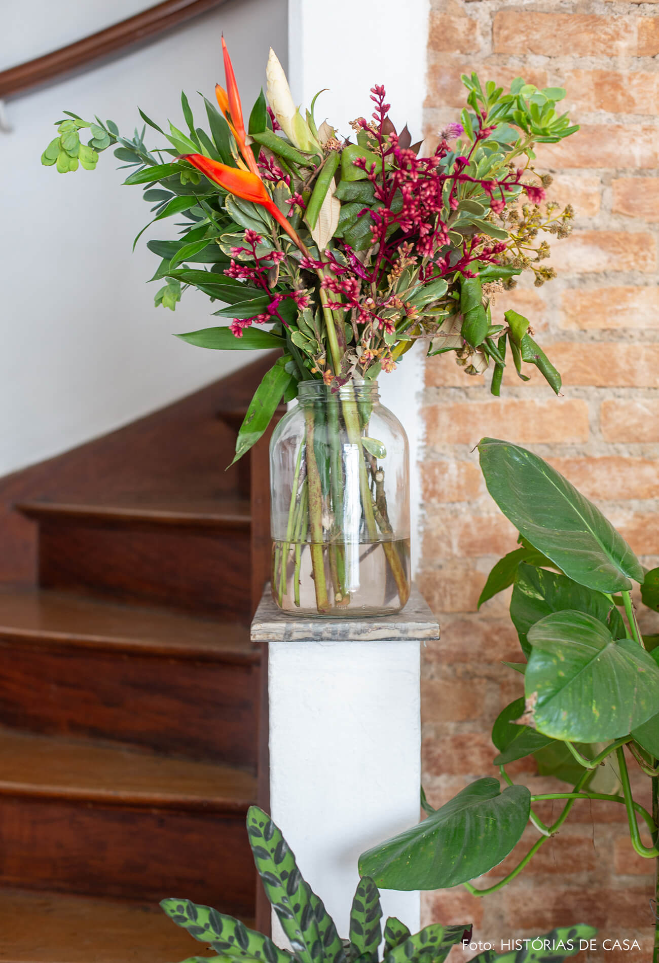 Tijolinho e muitas plantas em casa de vila