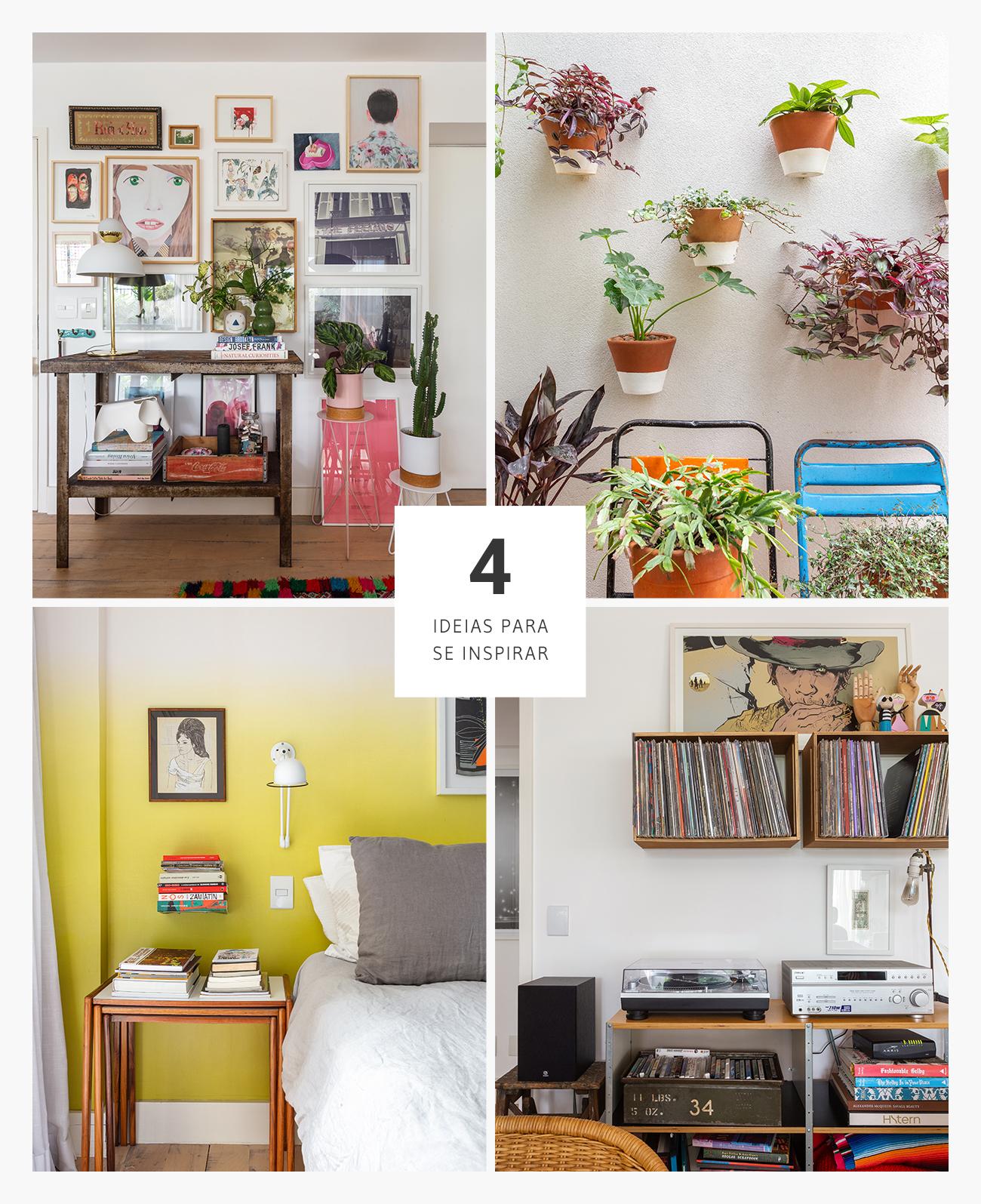 Quatro ideias de decoração para a parede