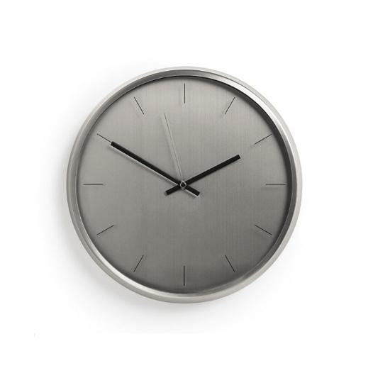 Relógio de parede metá prata